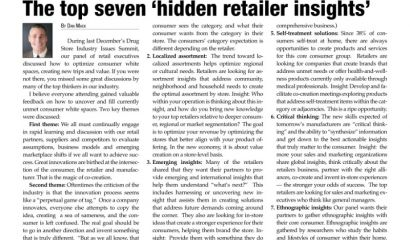 The top seven 'hidden retailer insights