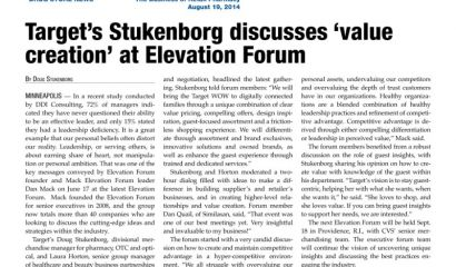 Target's Stukenborg discusses 'value creation' at Elevation Forum